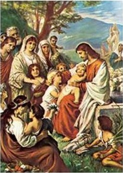 """Jesus Blessing the Children"" by Bernhard Plockhorst"